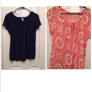 Lot of 2 Old Navy Peasant Tops.